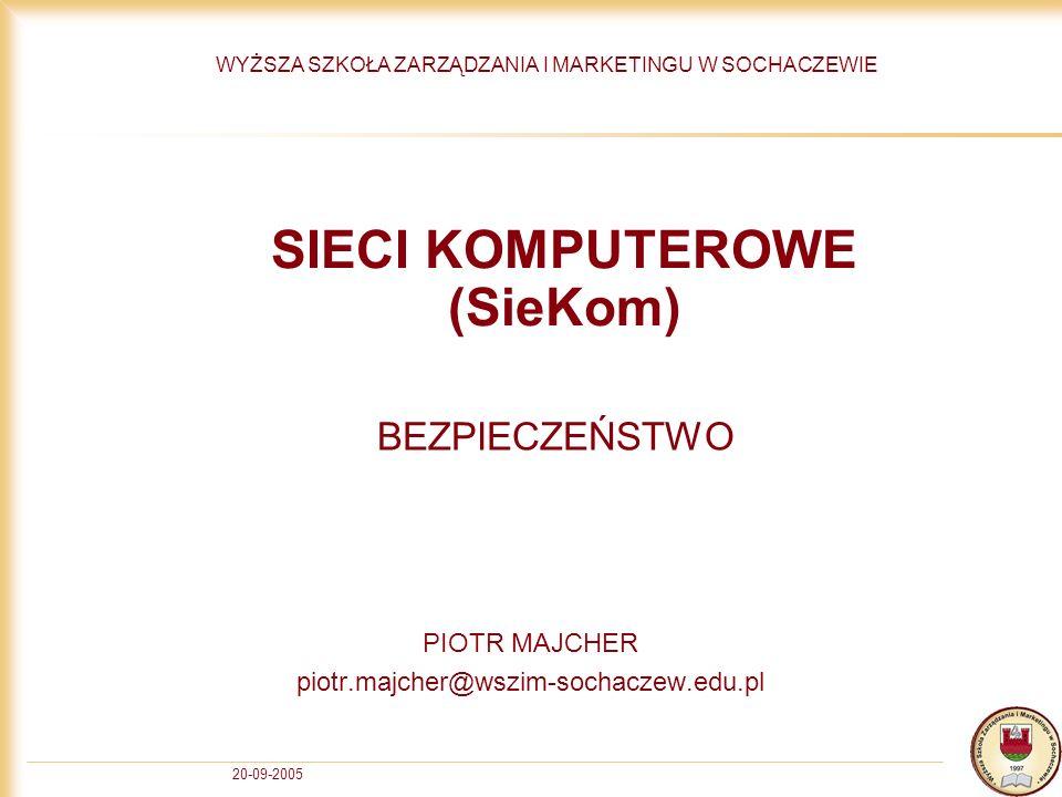SIECI KOMPUTEROWE (SieKom)