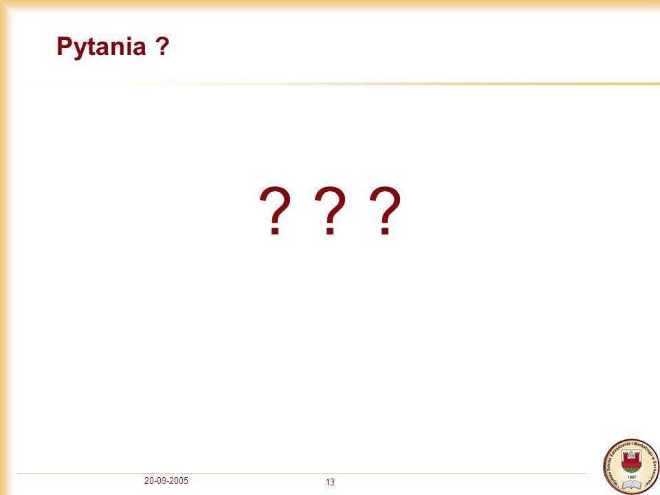 Pytania 20-09-2005