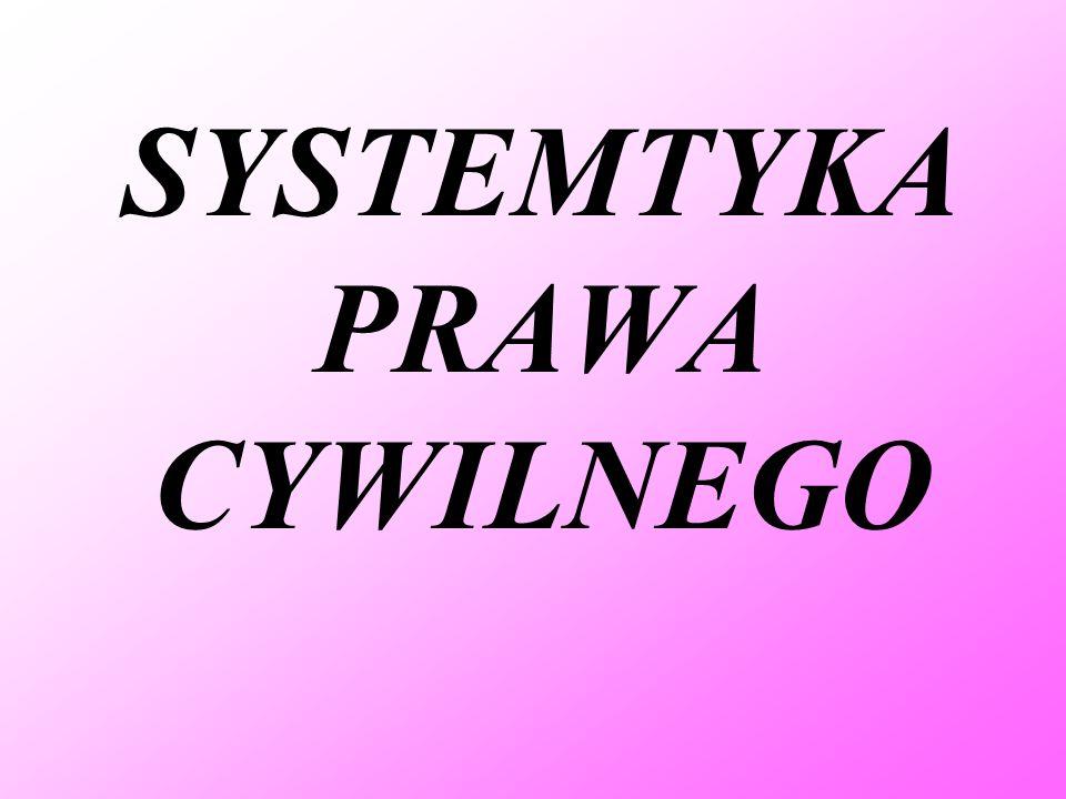 SYSTEMTYKA PRAWA CYWILNEGO