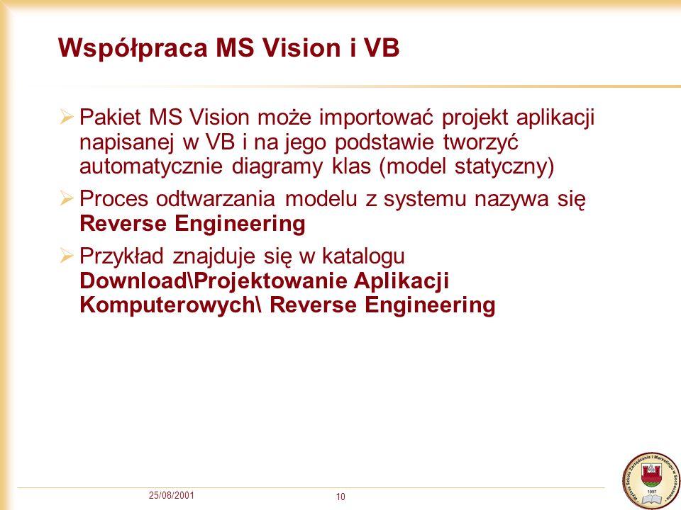 Współpraca MS Vision i VB