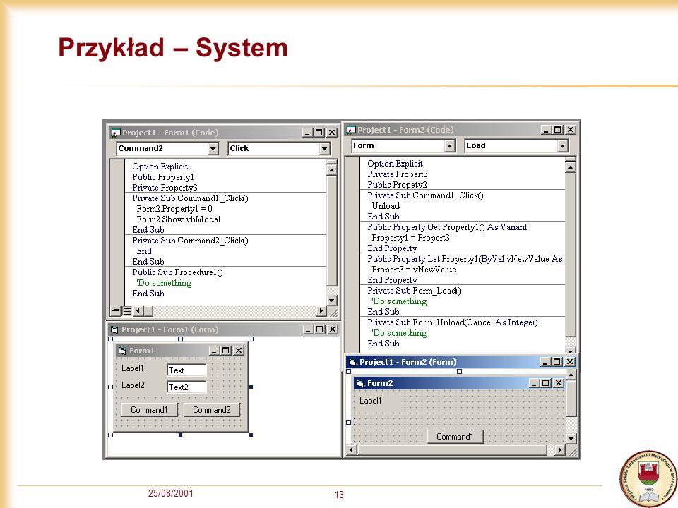 Przykład – System 25/08/2001