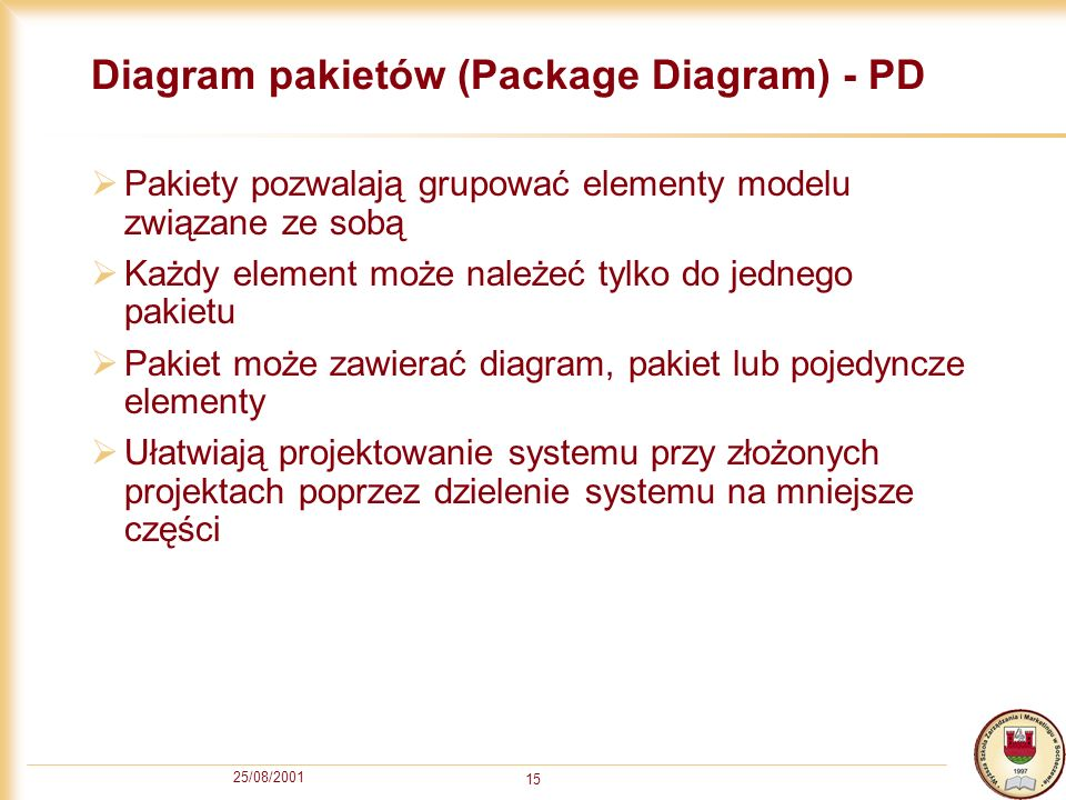 Diagram pakietów (Package Diagram) - PD