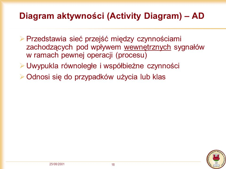 Diagram aktywności (Activity Diagram) – AD