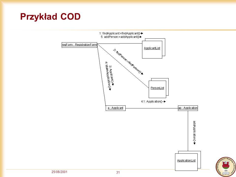 Przykład COD 25/08/2001