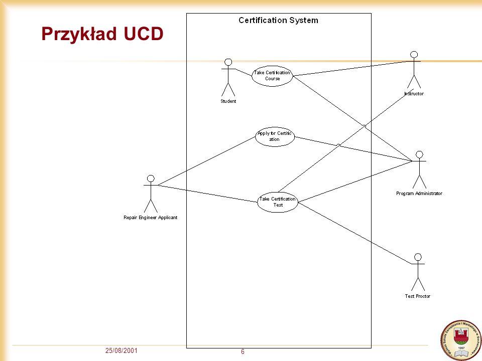 Przykład UCD 25/08/2001