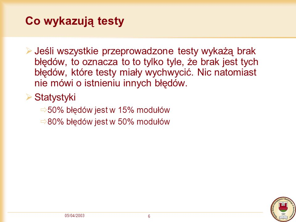 Co wykazują testy