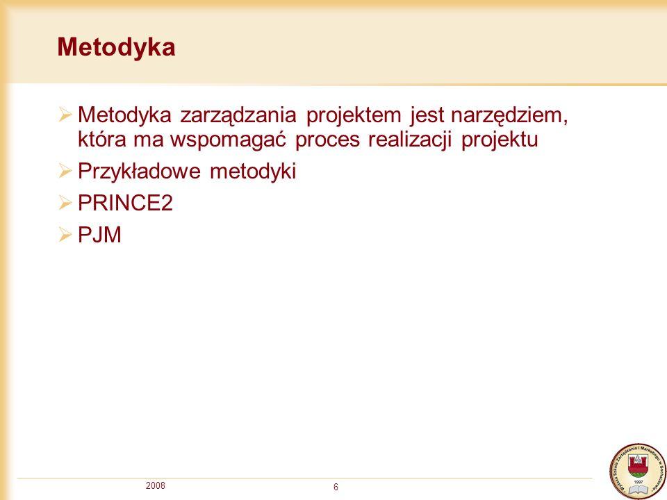 MetodykaMetodyka zarządzania projektem jest narzędziem, która ma wspomagać proces realizacji projektu.