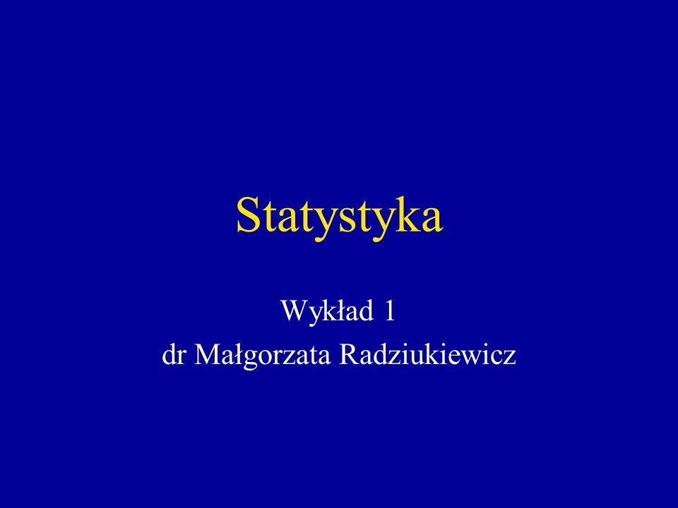 Wykład 1 dr Małgorzata Radziukiewicz