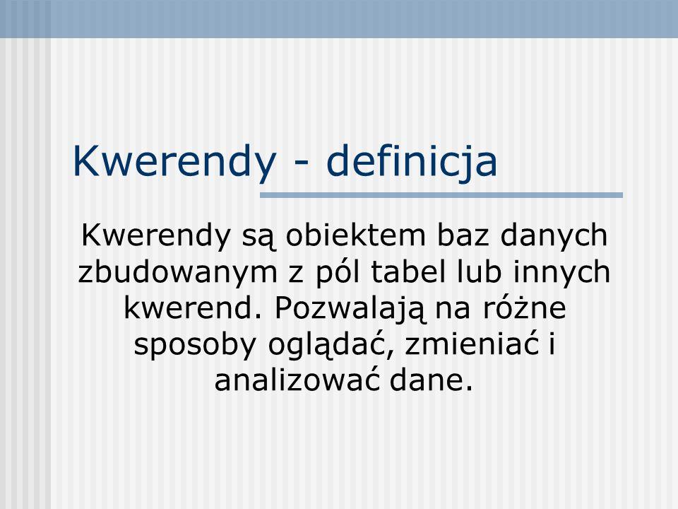 Kwerendy - definicja