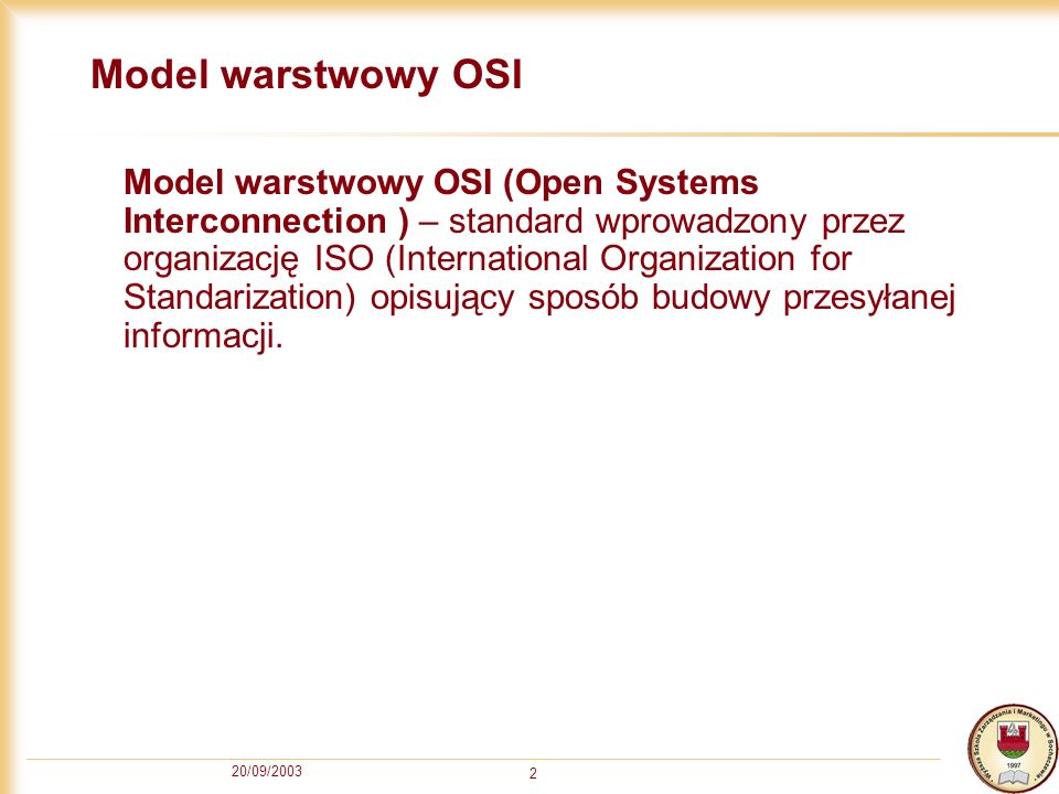 Model warstwowy OSI