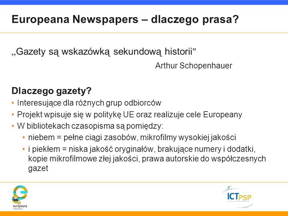 Europeana Newspapers – dlaczego prasa