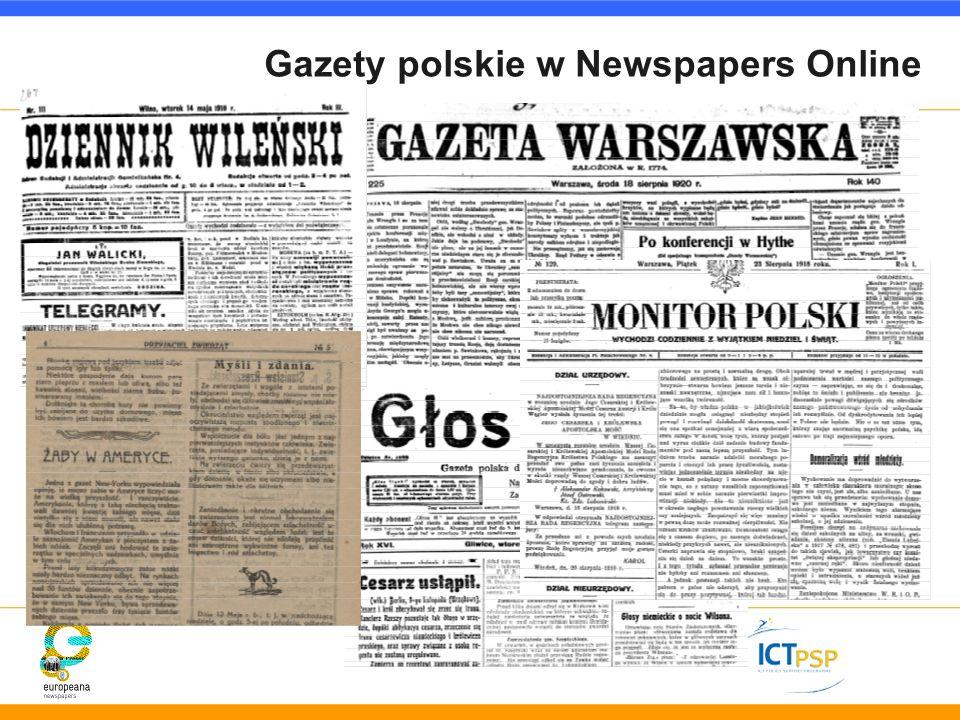 Gazety polskie w Newspapers Online