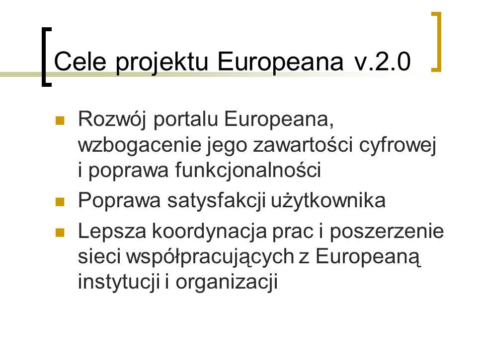 Cele projektu Europeana v.2.0