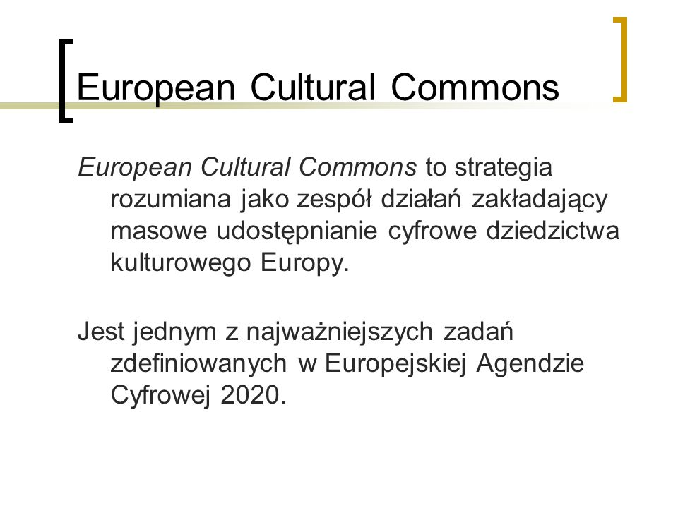 European Cultural Commons