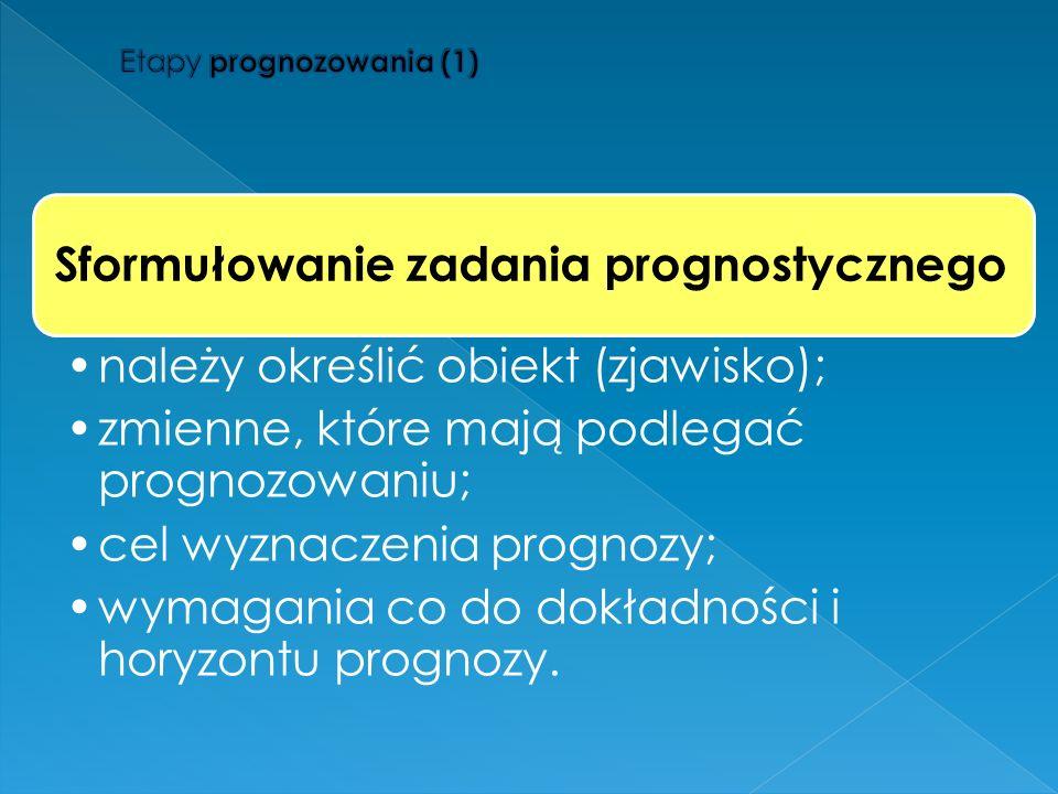 Etapy prognozowania (1)