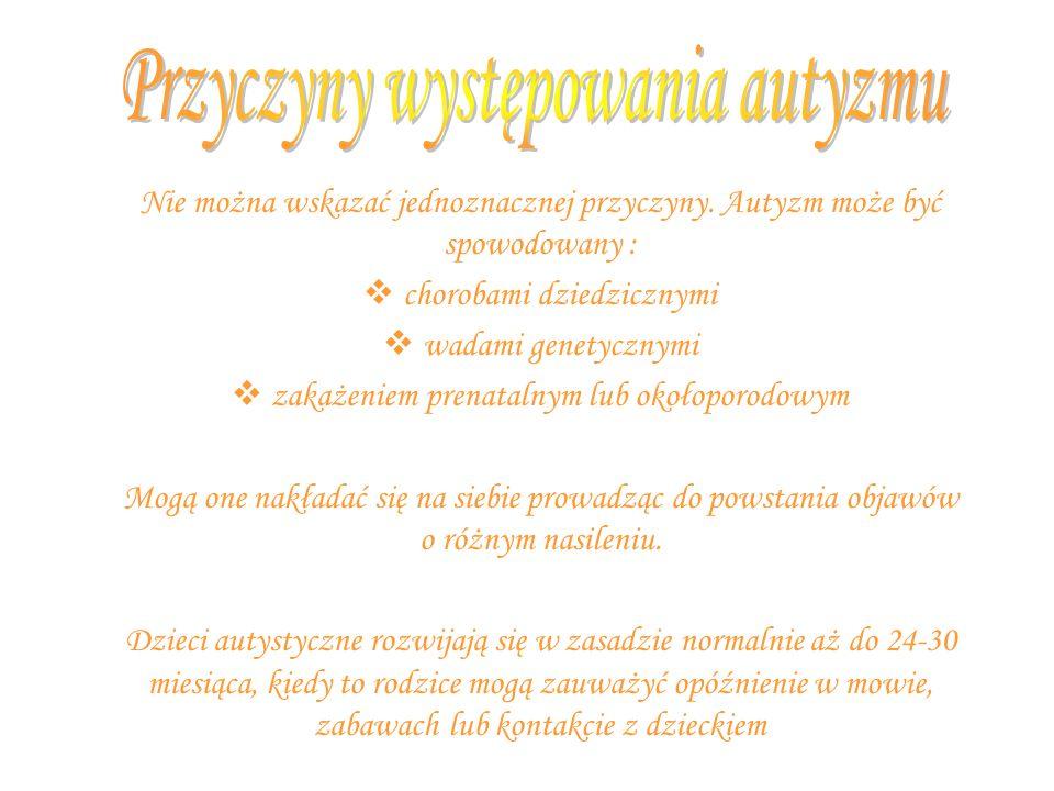 Przyczyny występowania autyzmu