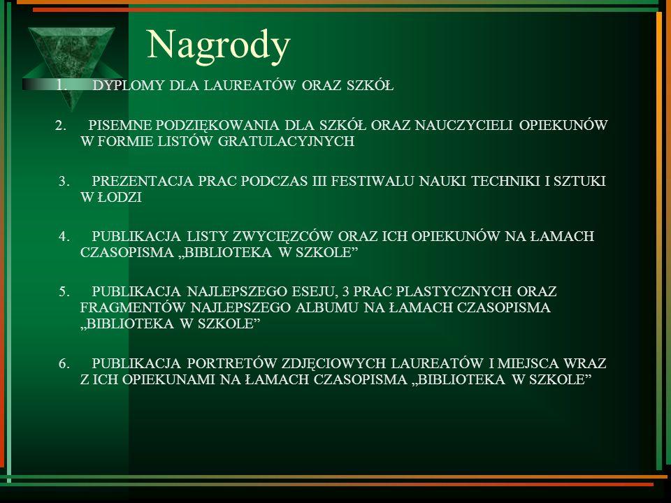 Nagrody 1. DYPLOMY DLA LAUREATÓW ORAZ SZKÓŁ