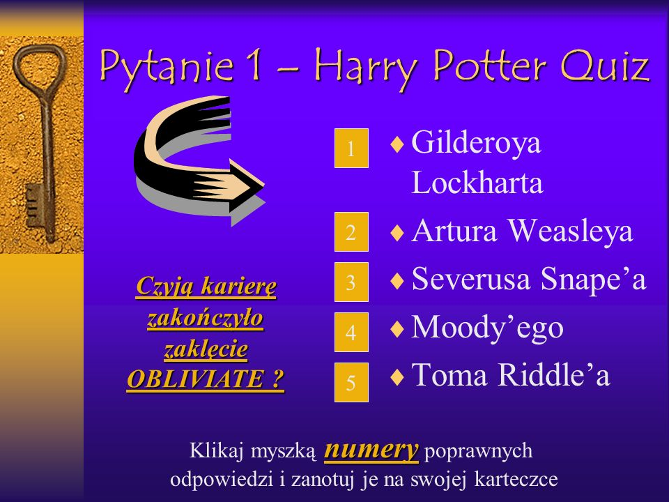Pytanie 1 – Harry Potter Quiz