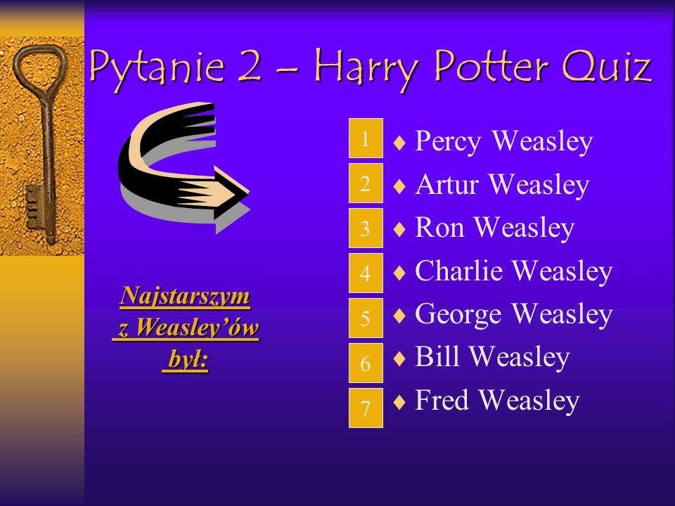 Pytanie 2 – Harry Potter Quiz