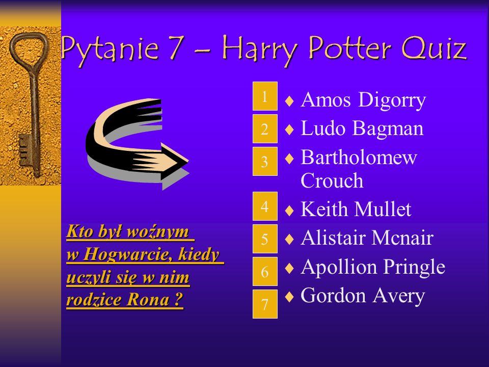 Pytanie 7 – Harry Potter Quiz
