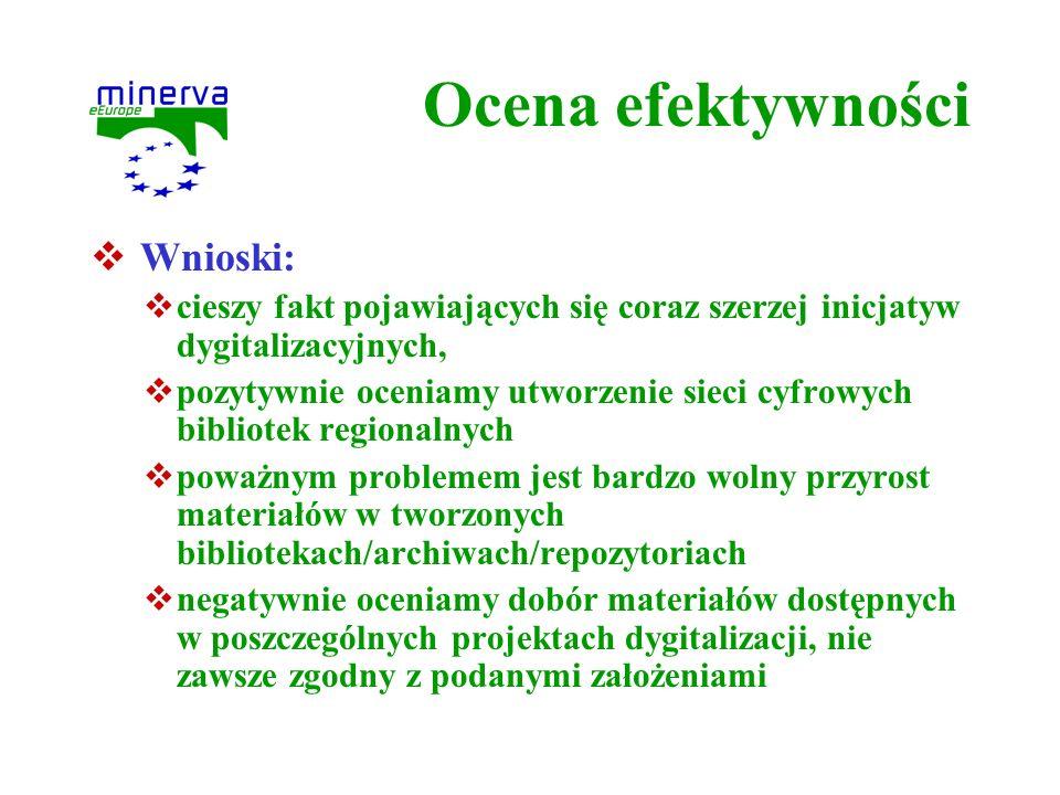 Ocena efektywności Wnioski: