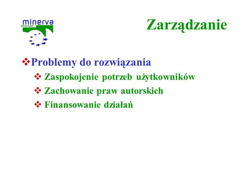 Zarządzanie Problemy do rozwiązania Zaspokojenie potrzeb użytkowników