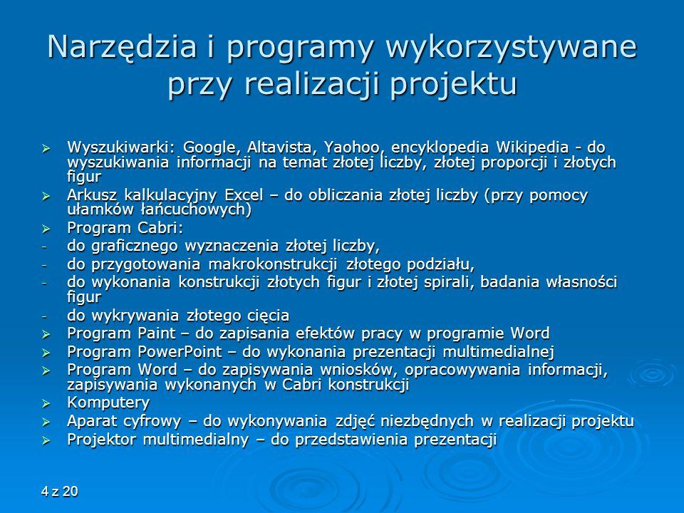 Narzędzia i programy wykorzystywane przy realizacji projektu
