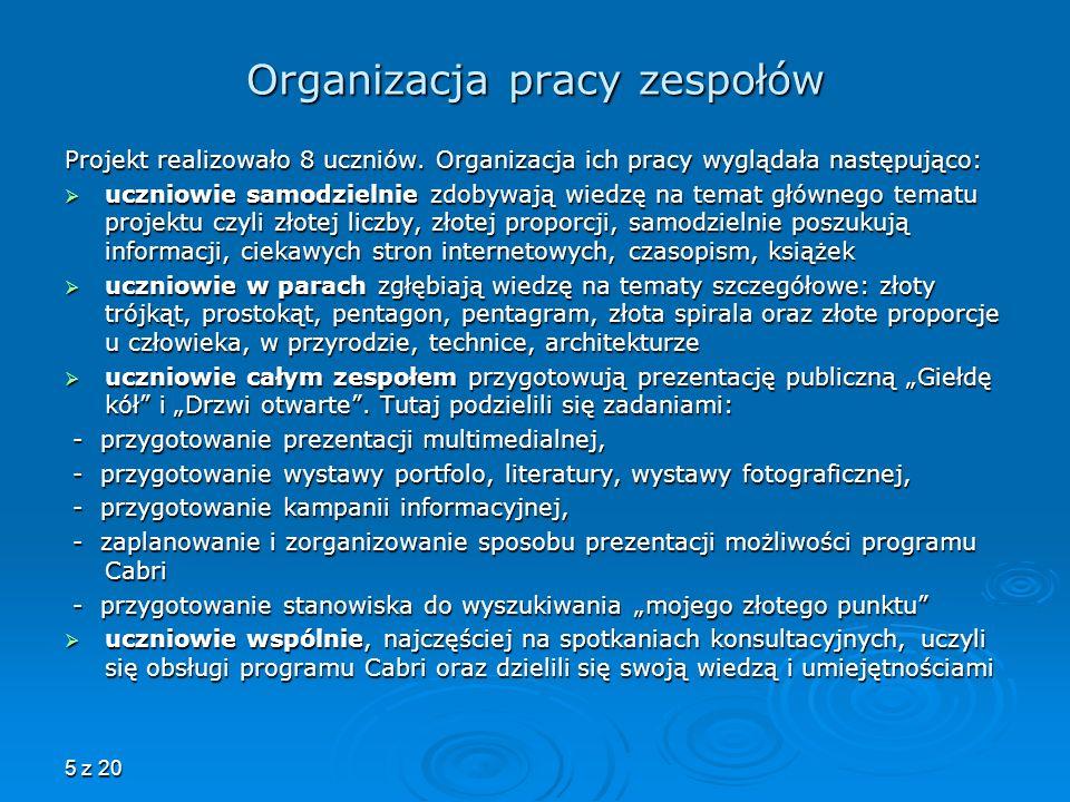 Organizacja pracy zespołów