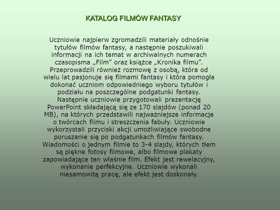 KATALOG FILMÓW FANTASY
