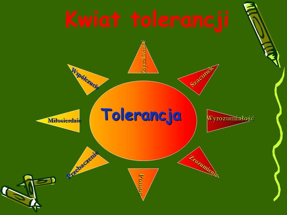 Kwiat tolerancji Tolerancja Życzliwość Szacunek Wyrozumiałość