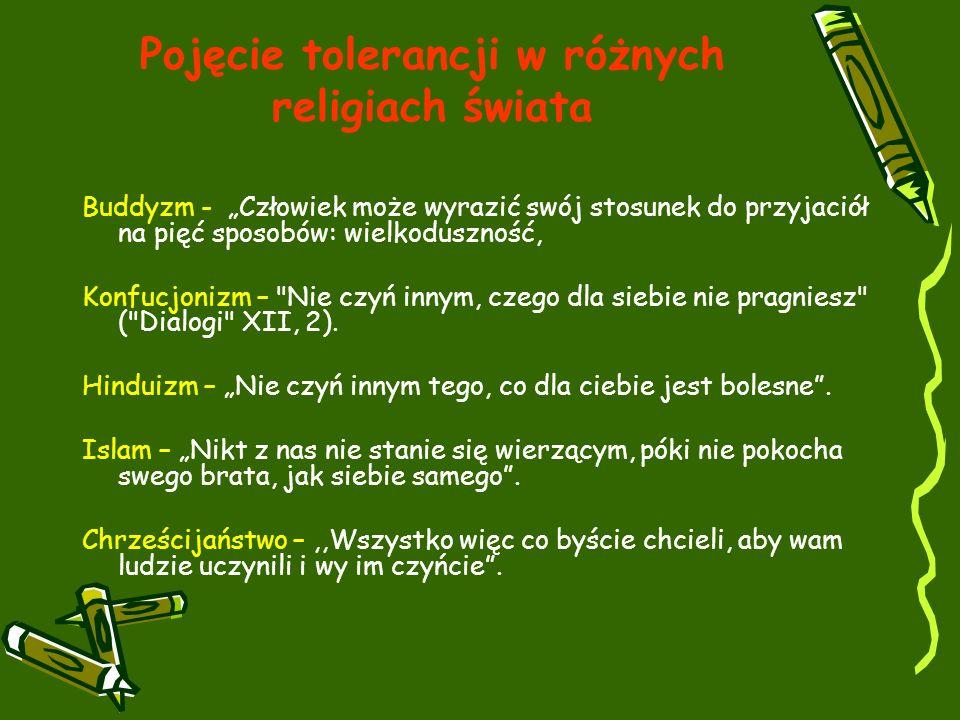 Pojęcie tolerancji w różnych religiach świata