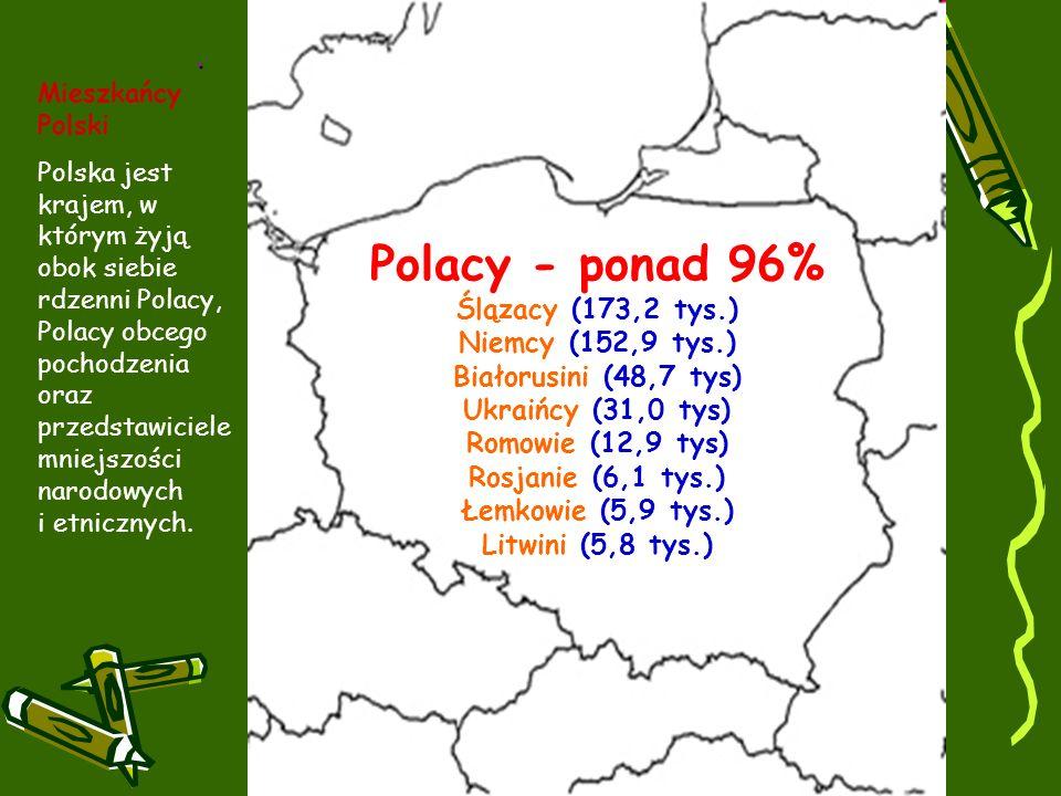 Polacy - ponad 96% Ślązacy (173,2 tys.) Niemcy (152,9 tys.)