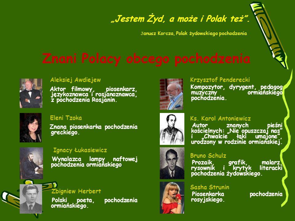 Znani Polacy obcego pochodzenia