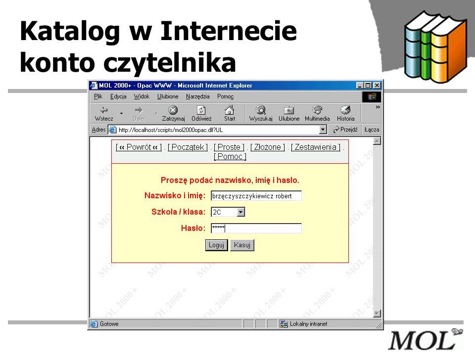 Katalog w Internecie konto czytelnika