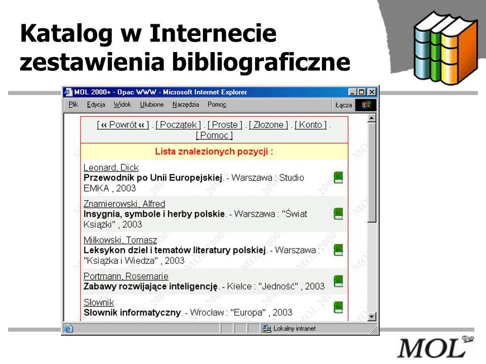 Katalog w Internecie zestawienia bibliograficzne