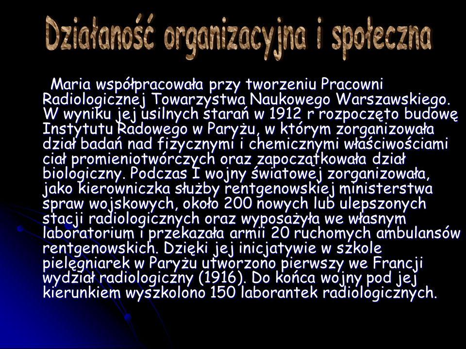 Działaność organizacyjna i społeczna