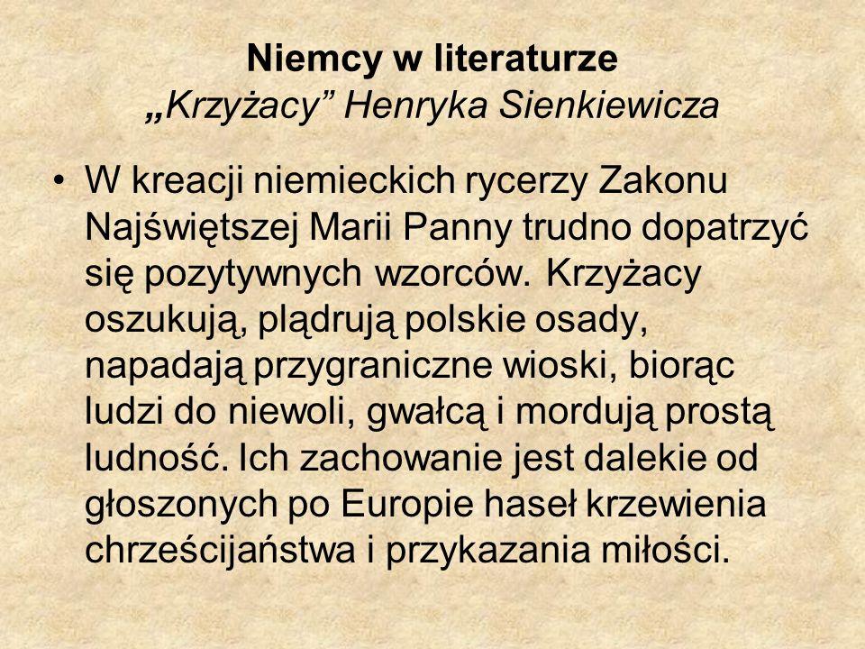 """Niemcy w literaturze """"Krzyżacy Henryka Sienkiewicza"""