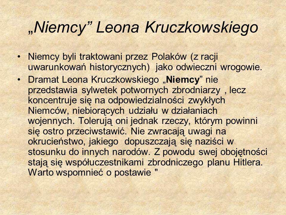 """""""Niemcy Leona Kruczkowskiego"""