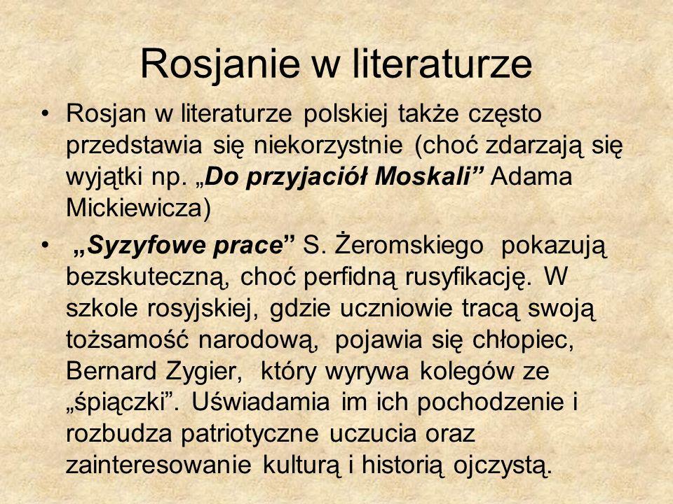 Rosjanie w literaturze