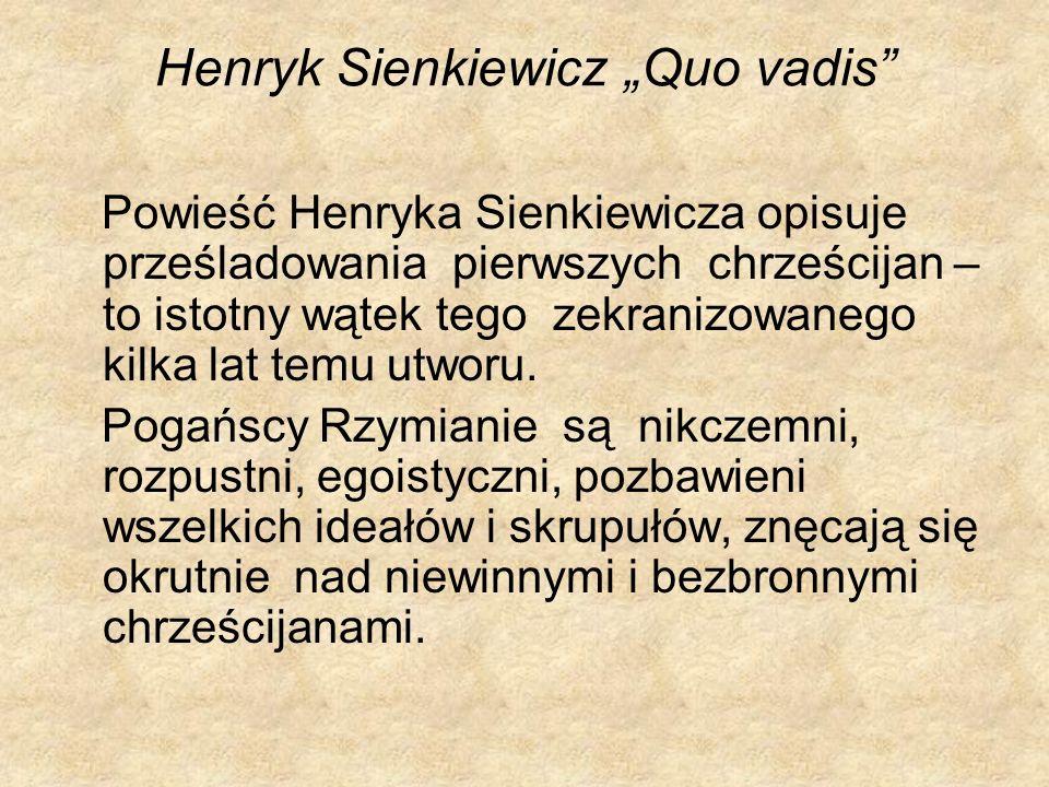 "Henryk Sienkiewicz ""Quo vadis"