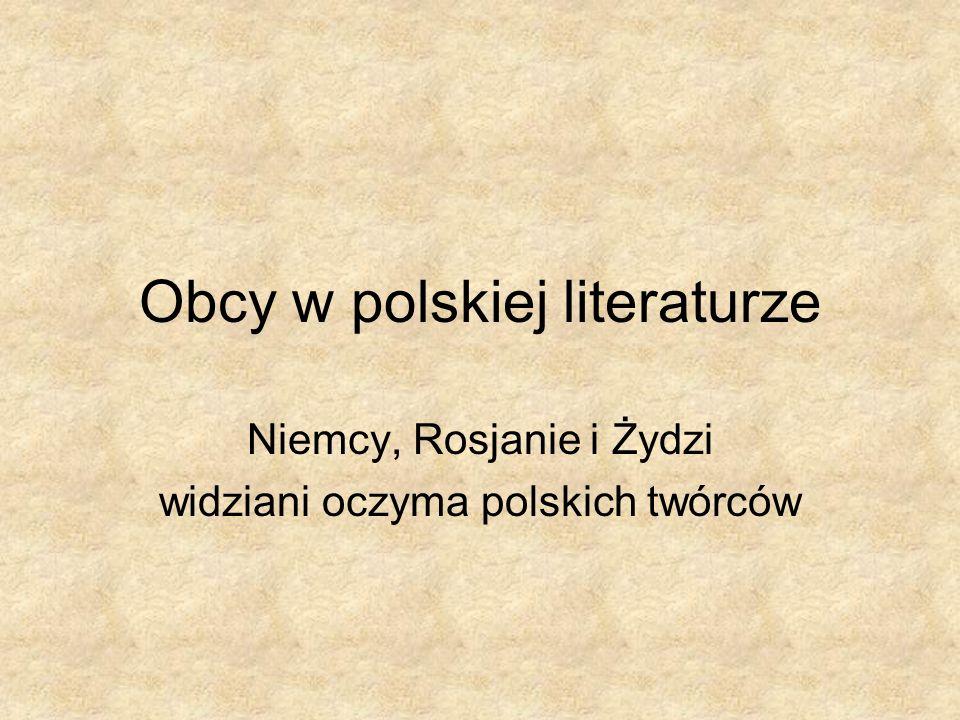 Obcy w polskiej literaturze