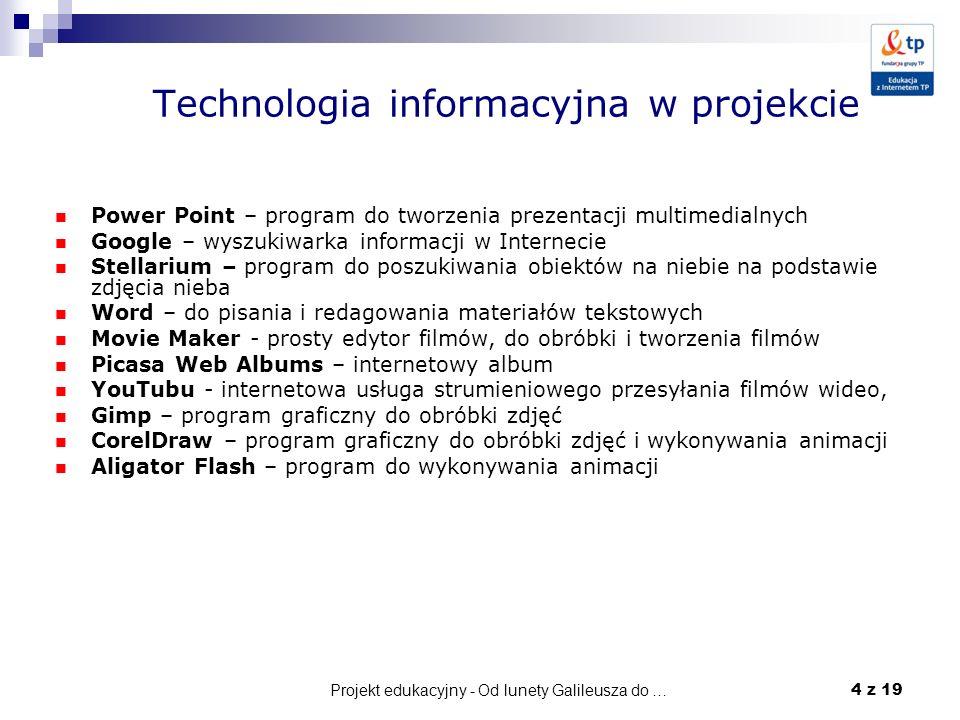 Technologia informacyjna w projekcie