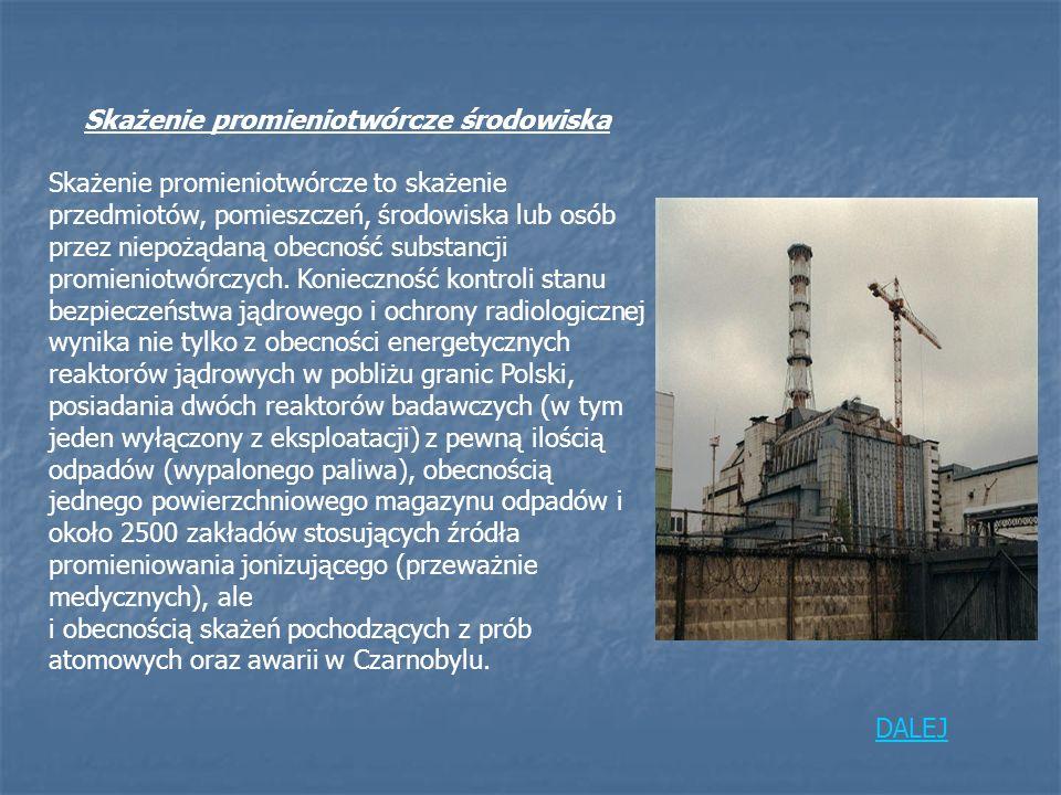 Skażenie promieniotwórcze środowiska