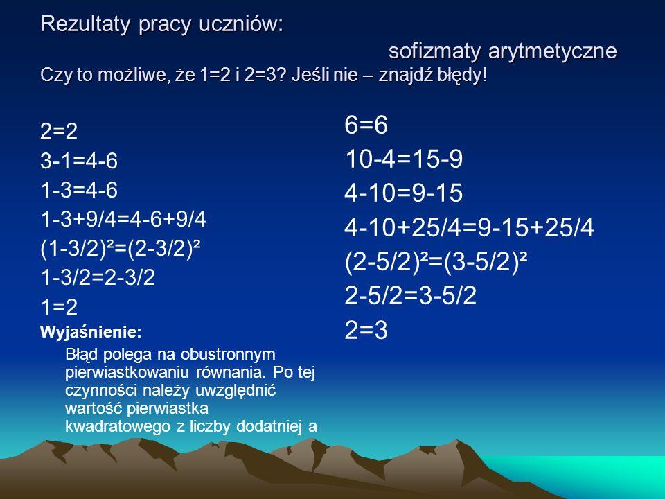 6=6 10-4=15-9 4-10=9-15 4-10+25/4=9-15+25/4 (2-5/2)²=(3-5/2)²