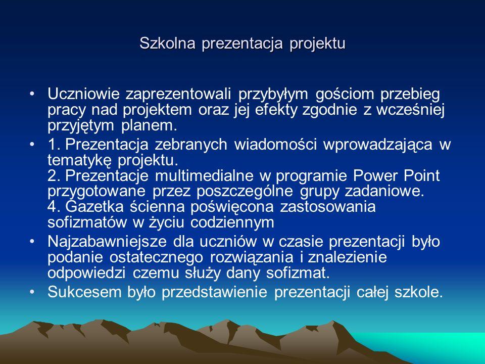 Szkolna prezentacja projektu
