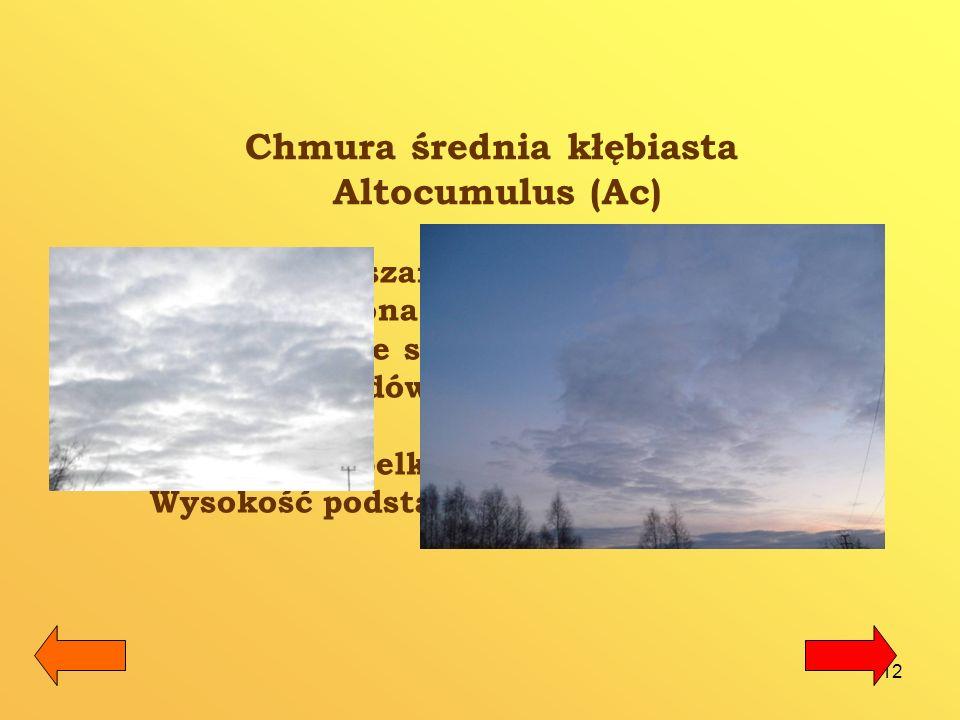 Chmura średnia kłębiasta Altocumulus (Ac)