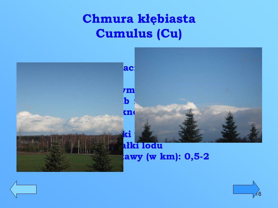 Chmura kłębiasta Cumulus (Cu)