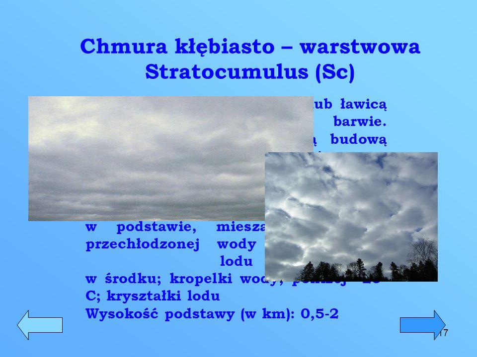 Chmura kłębiasto – warstwowa Stratocumulus (Sc)