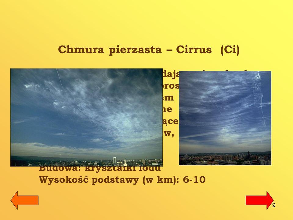 Chmura pierzasta – Cirrus (Ci)