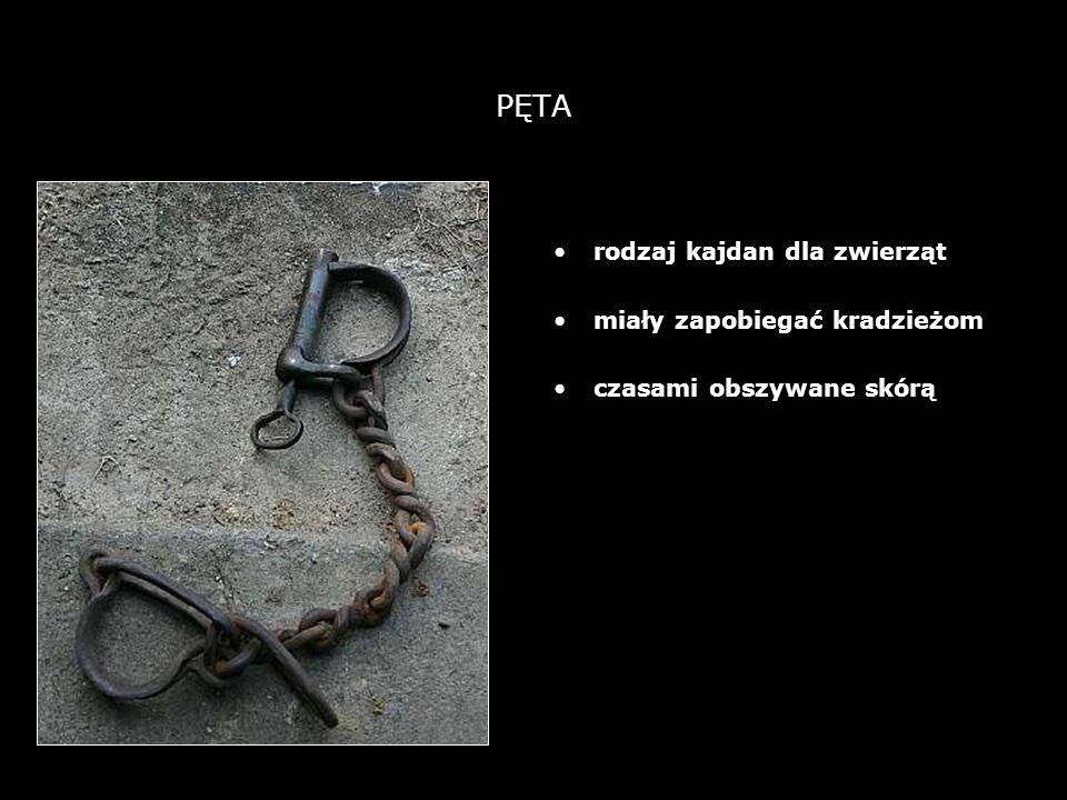 PĘTA rodzaj kajdan dla zwierząt miały zapobiegać kradzieżom